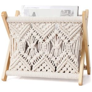 Magazine Rack Small Boho Storage Basket